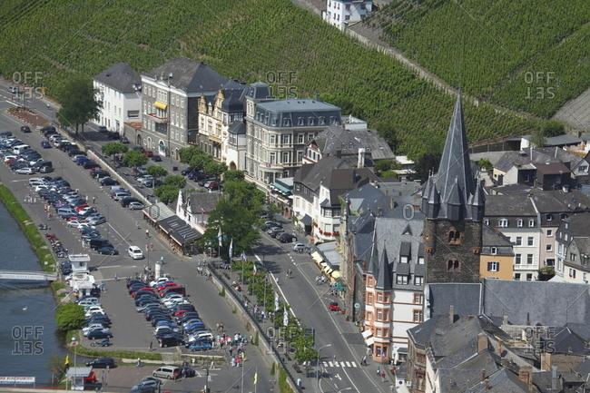 January 1, 1970: Gestade mit St. Michaelkirche und Altstadt von Bernkastel, Bernkastel-Kues, Rheinland-Pfalz, Deutschland