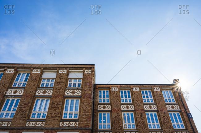 copenhagen - April 11, 2019: View of brick house
