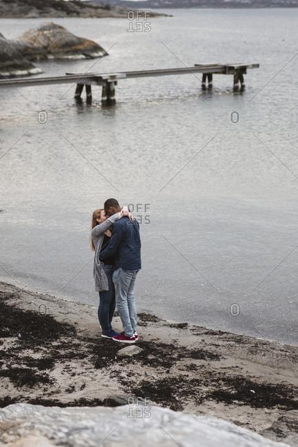 Couple at sea