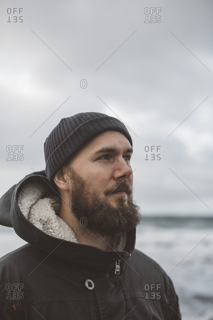 Man looking away