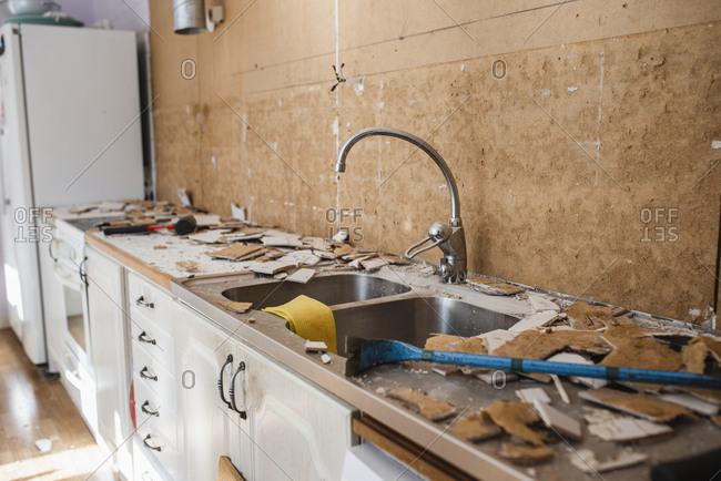 Renovating of a kitchen.