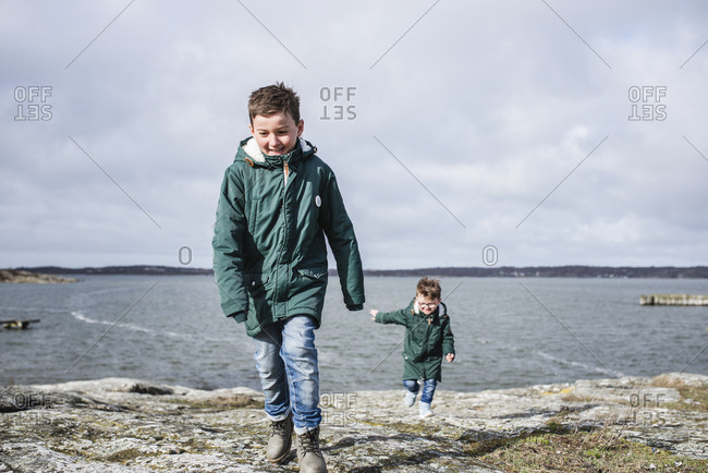 Boy at sea - Offset Collection