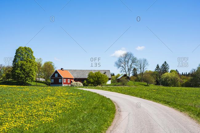 Farmhouse and outbuildings