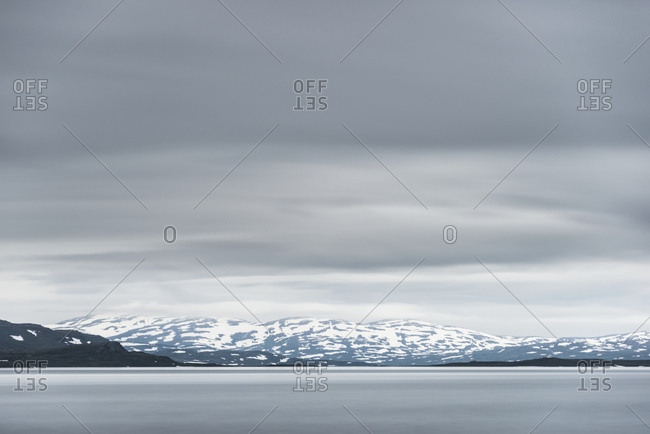 Sea and mountains at winter
