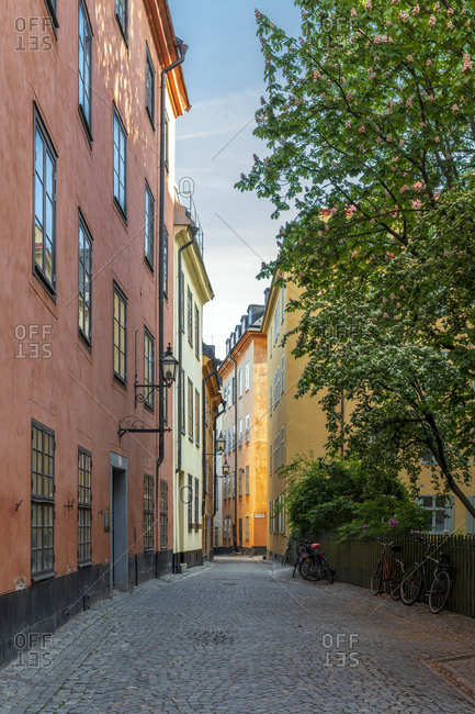 View of cobblestone street