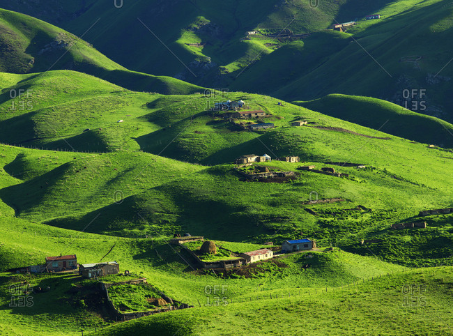 Grassland scenery rolling landscape