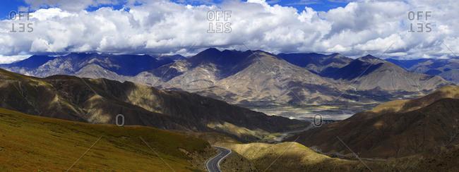 Tibet shannan yangzhuoyong lake city wave clamp county