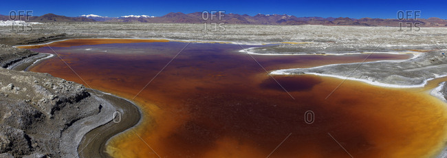 Salt lake scenery from naqu Tibet