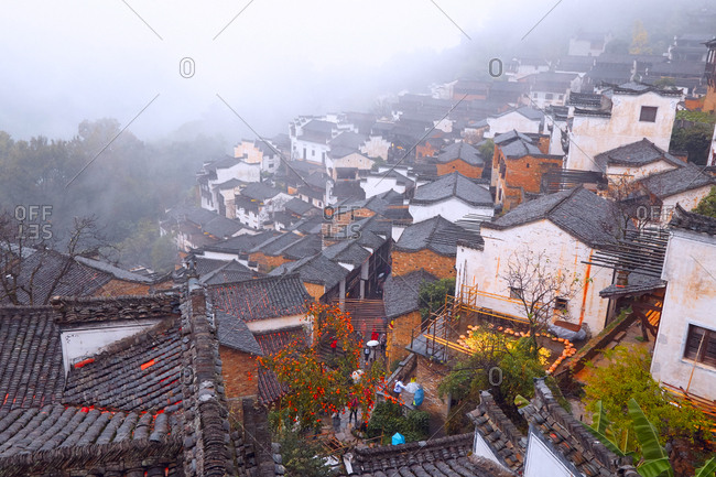 Jiangxi wuyuan in ridge local-style dwelling houses