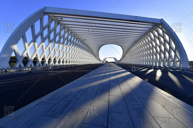 Beijing science city bridge in the future