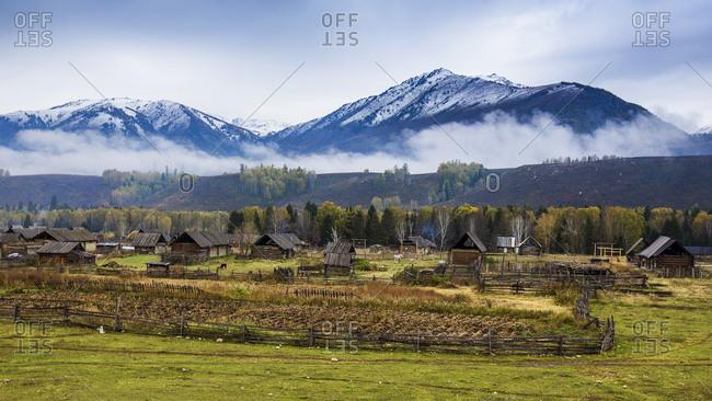 Xinjiang kanas acaroid village scenery