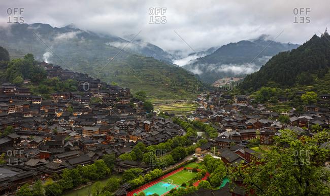ZhaoXing town dong construction in guizhou province