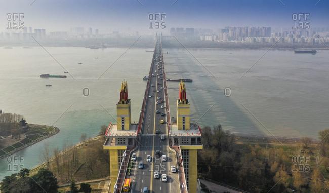 Jiangsu province nanjing Yangtze river bridge