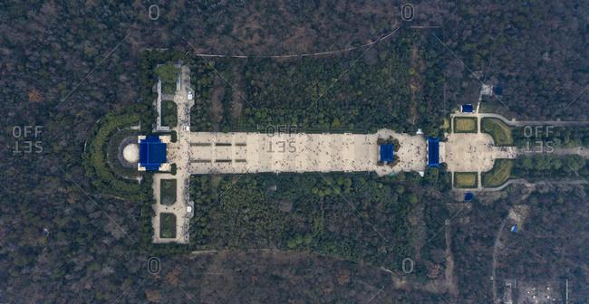 Sun yat-sen's mausoleum in nanjing, jiangsu province aerial
