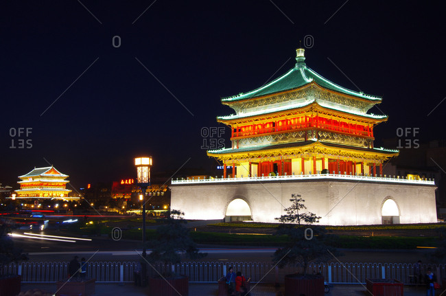 September 23, 2019 China: Shaanxi xi 'an bell tower drum tower