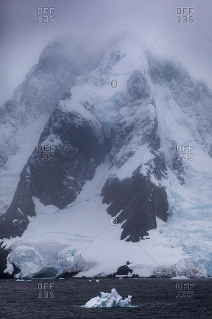 Icebergs in the ocean, Antarctica