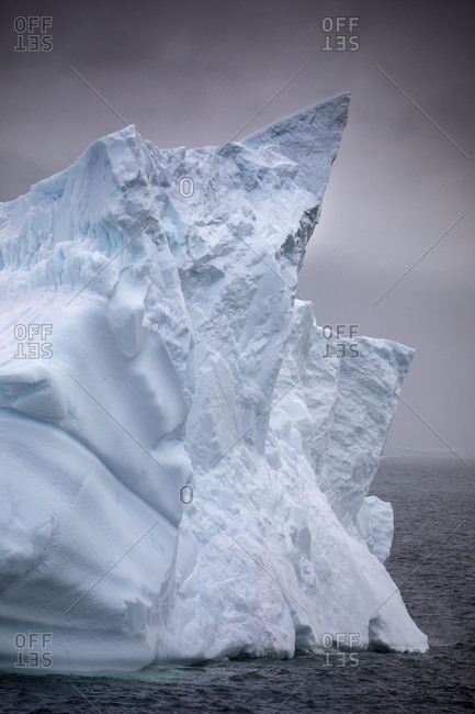 Iceberg details in the ocean, Antarctica