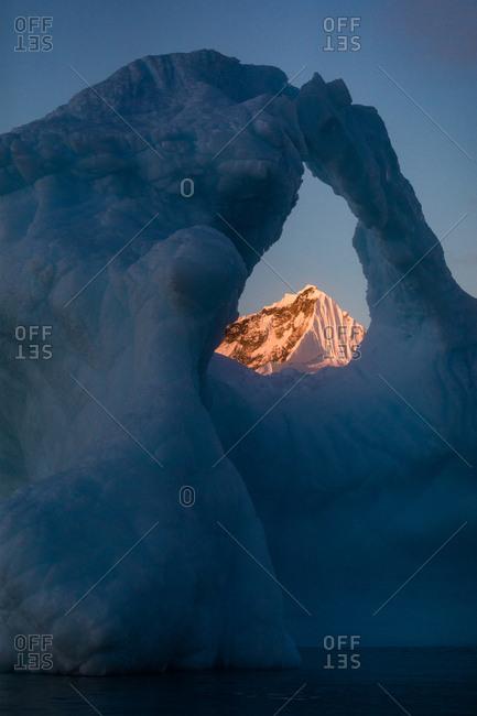 Window in iceberg