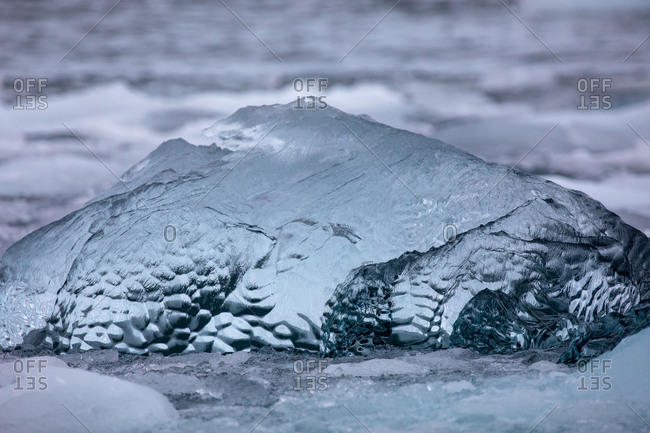 Iceberg details in the ocean