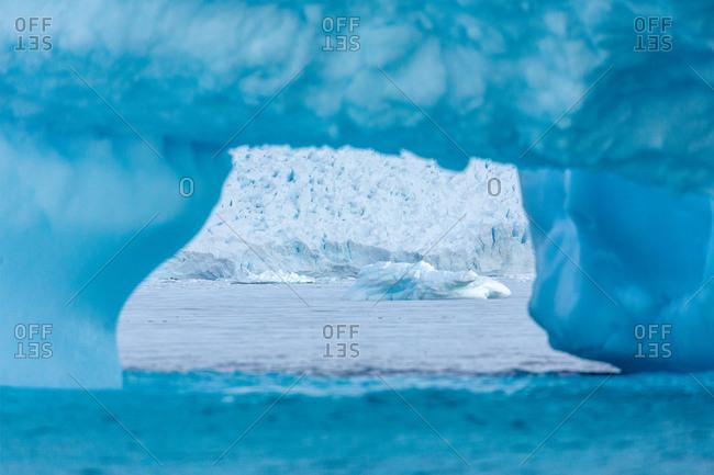 View through iceberg arch