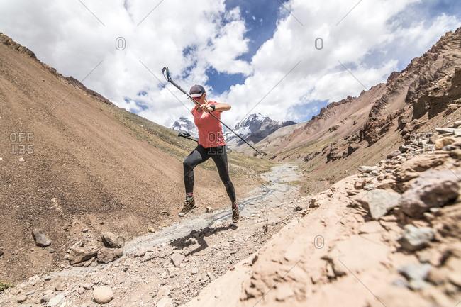 Sunny Stroeer runs Aconcagua, setting a speed record on the peak