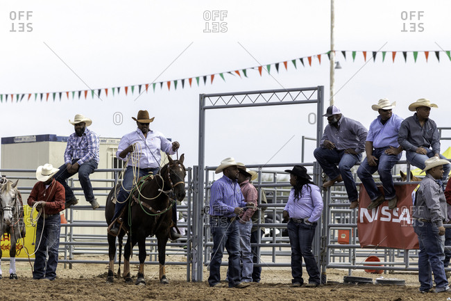 United States, Arizona, Chandler - March 9, 2019: Cowboys and cowgirls gathering at the Arizona Black Rodeo