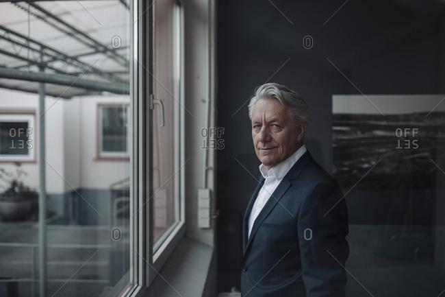 Portrait of a senior businessman at the window