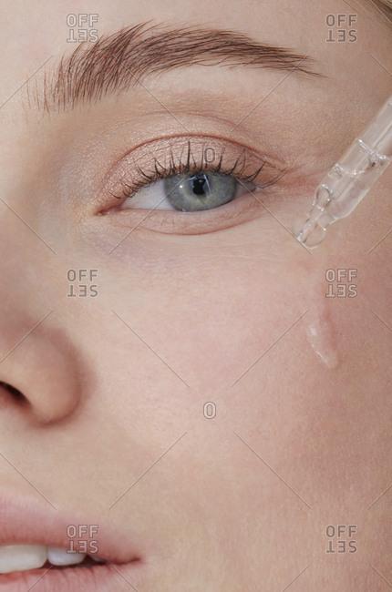 Skin care hydration- close-up