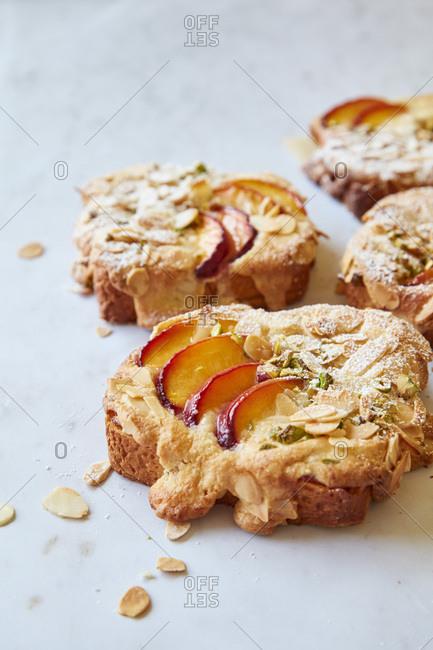 Peach and Almond Bostock