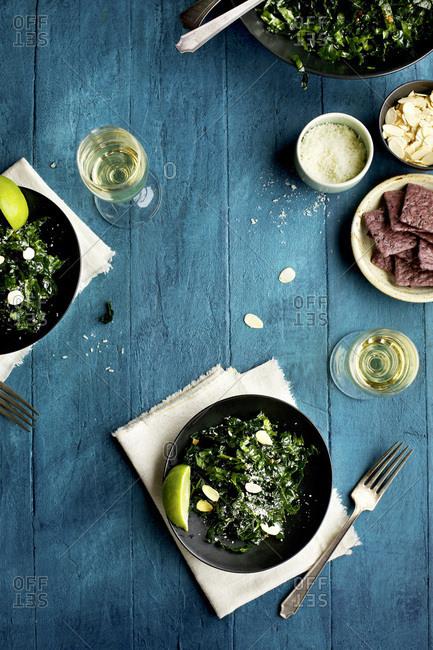 Toasted Sesame Kale Salad - Offset
