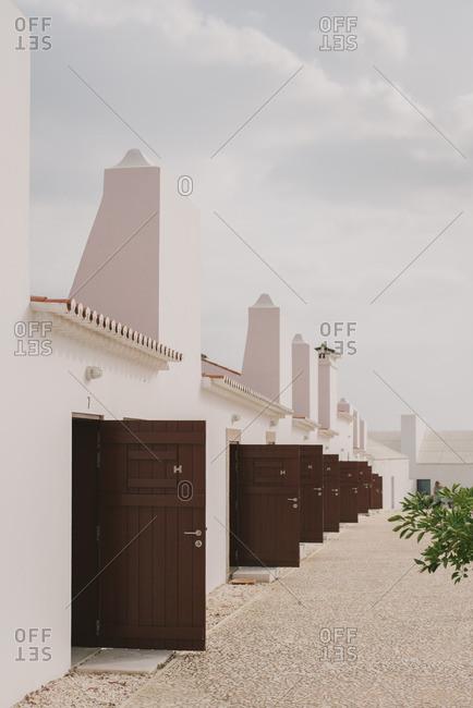 Open doors at Torre de Palma, Wine Hotel in Monforte, Portugal