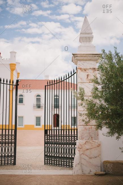Gate to the Torre de Palma, Wine Hotel in Monforte, Portugal