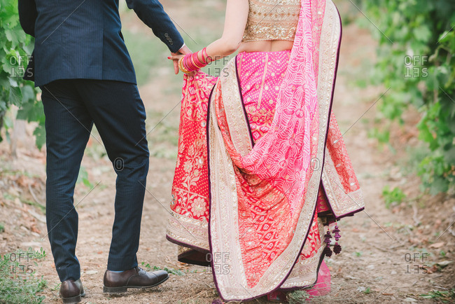 Bride and groom at a traditional Indian wedding