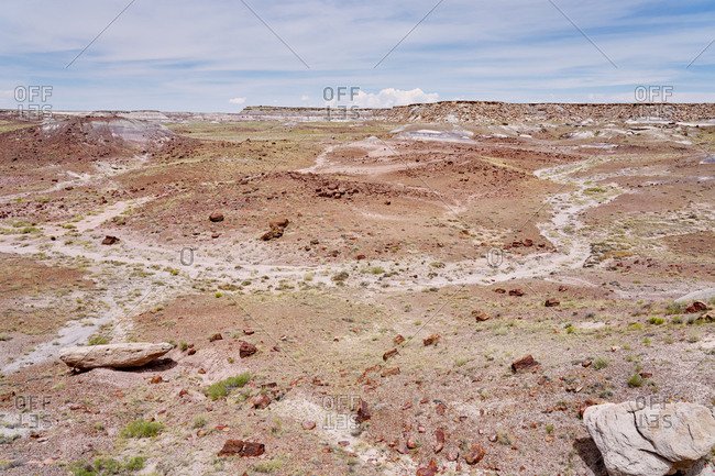 The Painted Desert in the Petrified Forest National Park, Arizona