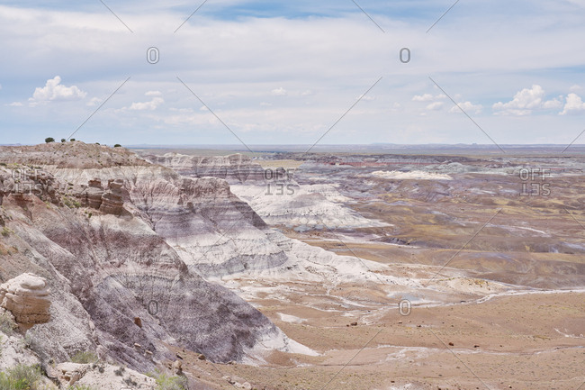 View of The Painted Desert in the Petrified Forest National Park, Arizona