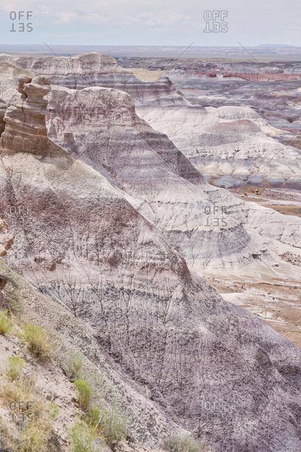 Badlands of Arizona in the Petrified Forest National Park