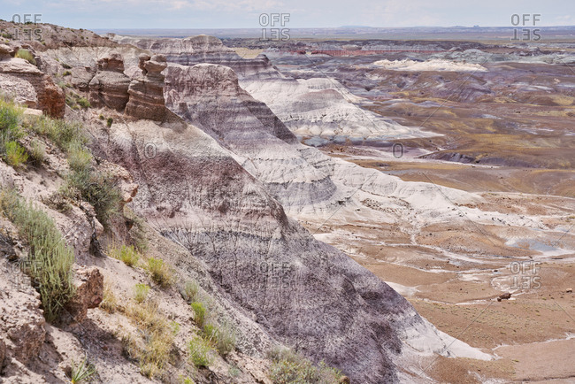 The badlands of Arizona in the Petrified Forest National Park