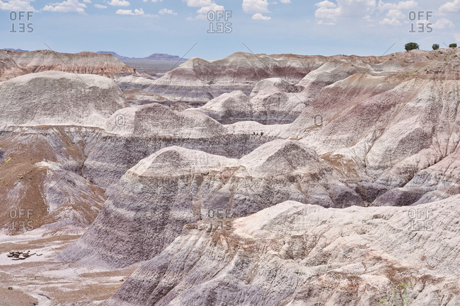 Texture of beautiful canyons in the Petrified Forest National Park, Arizona