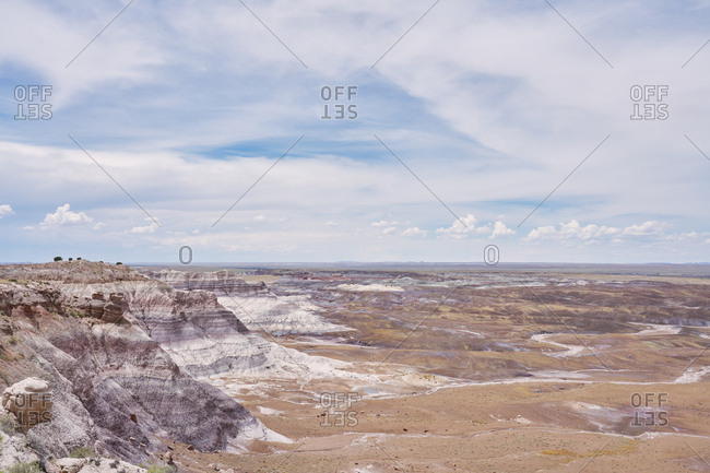 View over the badlands in the Petrified Forest National Park, Arizona