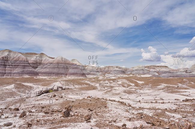 Vast rugged landscape of the Petrified Forest National Park, Arizona