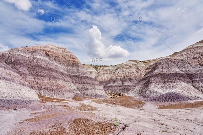 Rugged landscape of the Petrified Forest National Park, Arizona