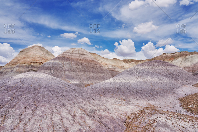 Hills in the Petrified Forest National Park, Arizona