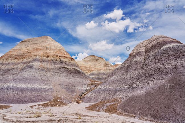 Textured hills in the Petrified Forest National Park, Arizona