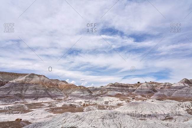 View over Petrified Forest National Park, Arizona