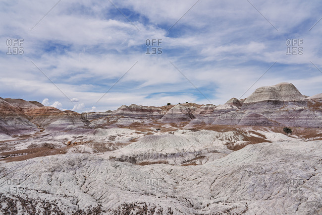 Vast view over Petrified Forest National Park, Arizona