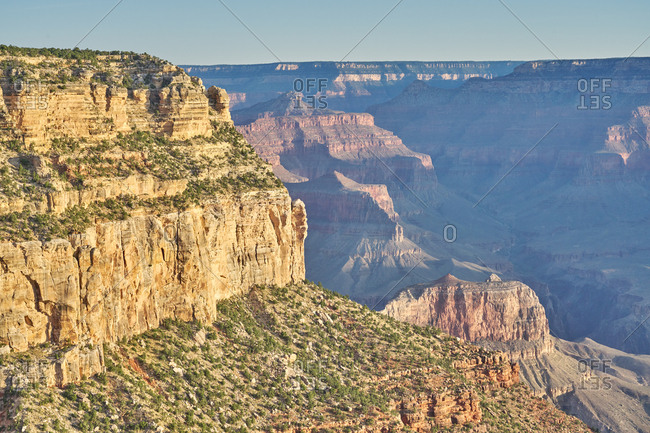 Golden hour at Grand Canyon National Park in Arizona