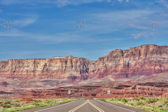 Road leading to canyons in Grand Canyon National Park, Arizona