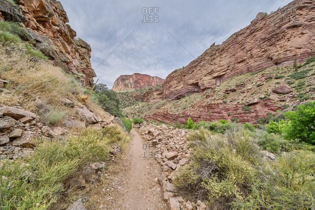 Hiking trail, North Kaibab Trail, Grand Canyon National Park, Arizona
