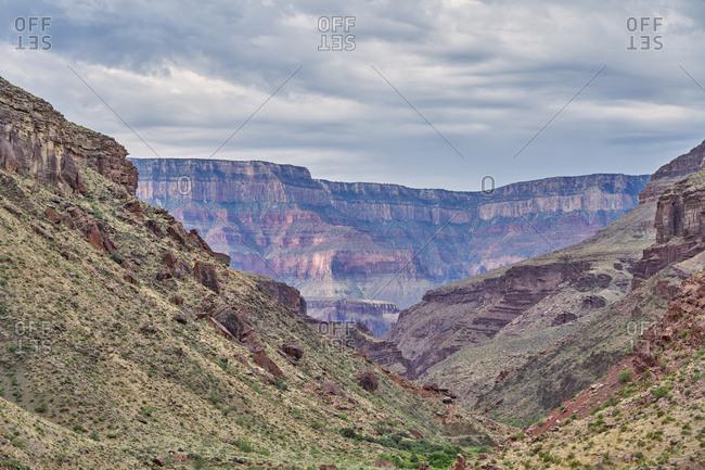 Canyons along the North Kaibab Trail, Grand Canyon National Park, Arizona