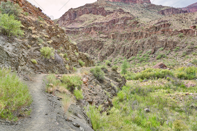 Rocky canyons on the North Kaibab Trail, Grand Canyon National Park, Arizona